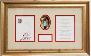Graduation photos and diplomas in a single custom frame