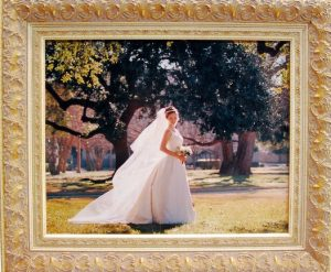 Wedding picture in custom picture frame