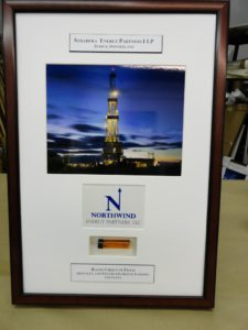 An oil industry corporate gift picture frame
