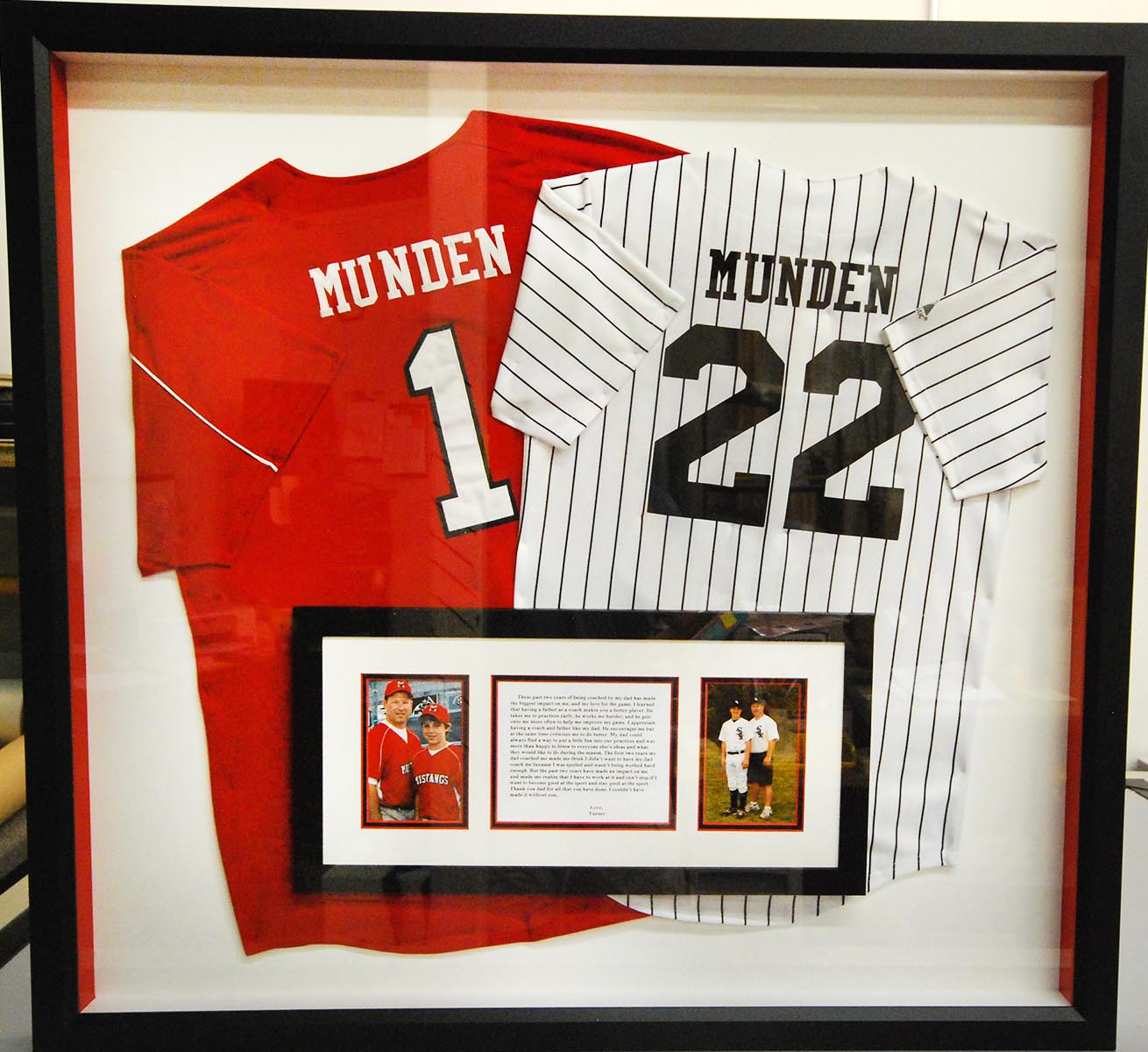 Creative Sports Jersey Framing - Fastframe Houston Picture Framing