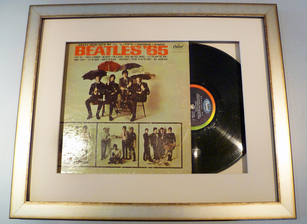 custom picture frame for beatles album