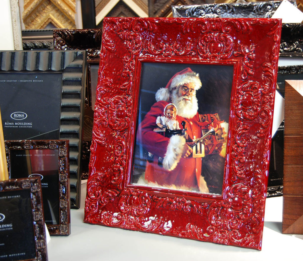 Picture Frame gift with Santa