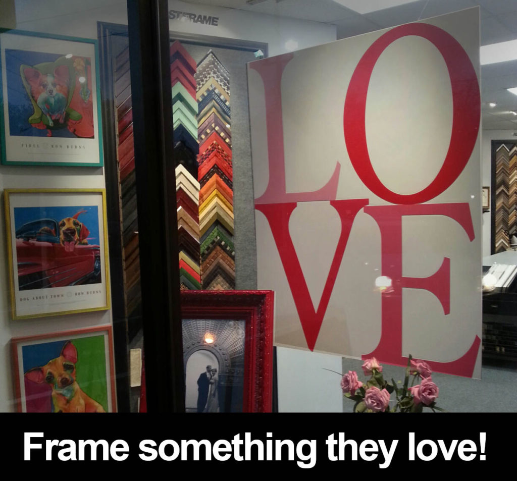 picture framing for valentine's day framed gifts