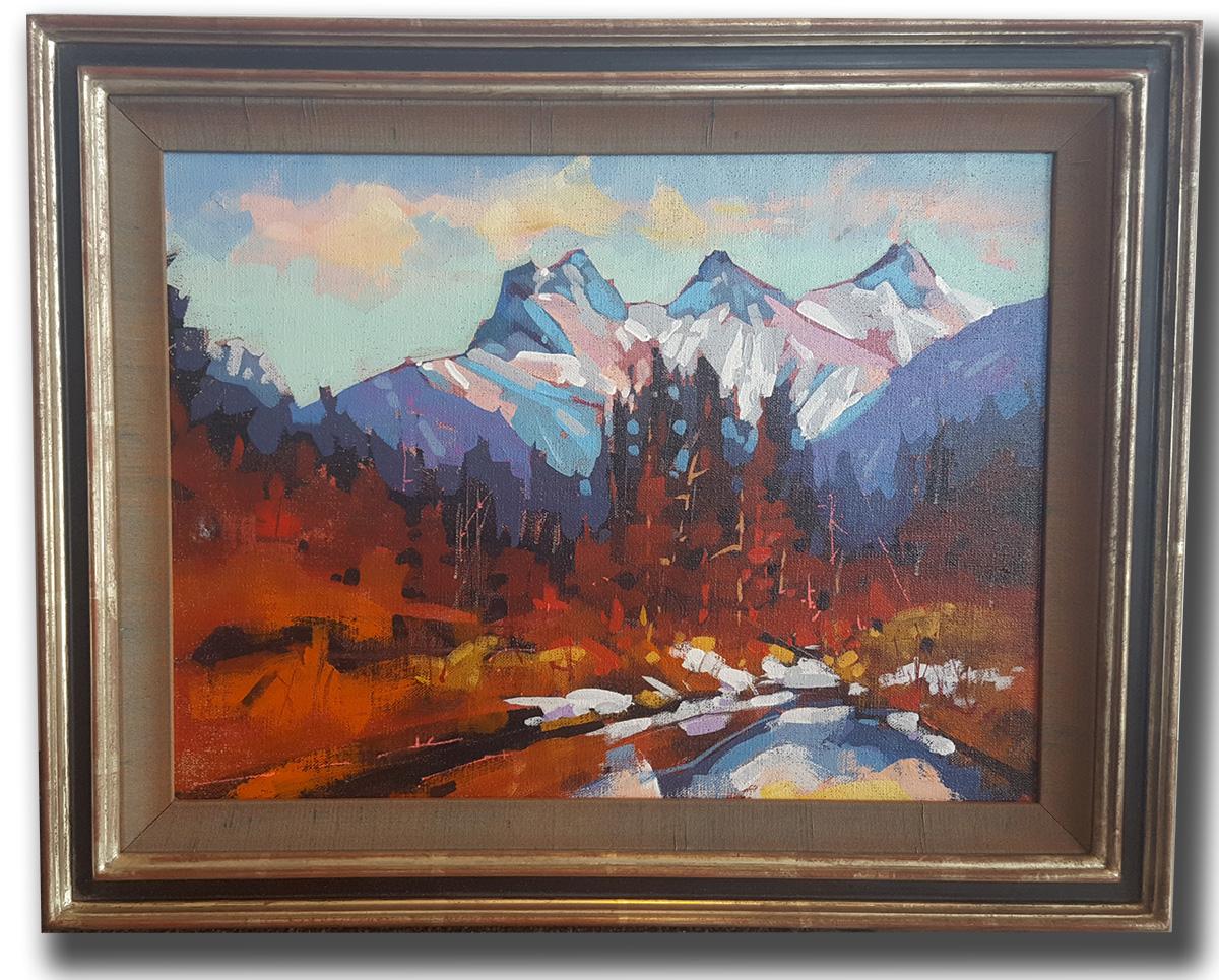 Landscape in closed corner (new look) frame