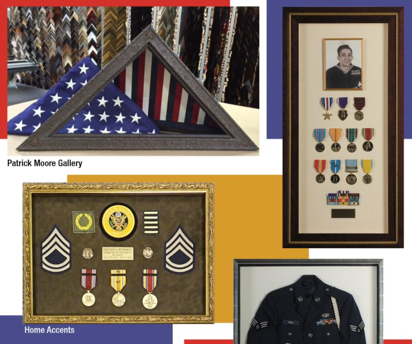 medals, military, flag, patriotic picture framing