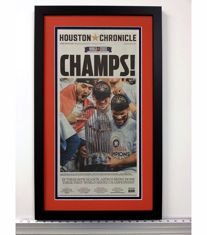 Houston Astros Chronicle Cover Thumb – Fastframe Houston Picture Framing