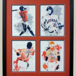 Houston astros 2 x 2 custom picture frame