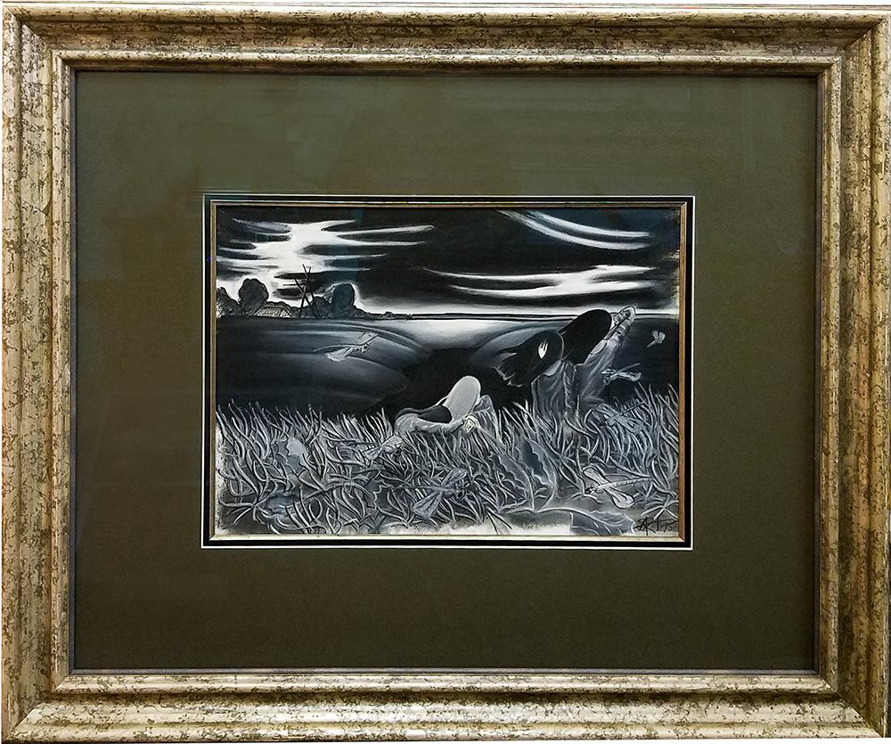Artwork guilded frame – Fastframe Houston Picture Framing